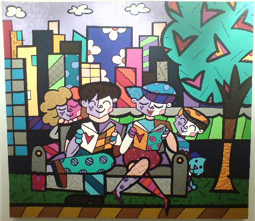 romero britto art. Romero Britto and Friends in